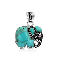 Bling Jewelry Teal Elly Pendant