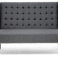 Owstynn Banquette Bench, Charcoal, Entryway Bench, Bedroom Bench