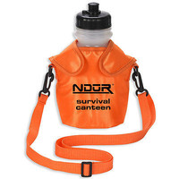 NDUR SURVIVAL CANTEEN 46oz WATER FILTRATION BOTTLE ORANGE CAMP HIKE TRAVEL 52062