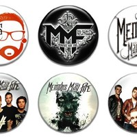 """Set of 6 New Memphis May Fire 1.25"""" Pinback Button Badge Pin"""