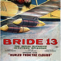 Bride 13 Hurled From The Clouds Vintage Movie Poster