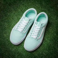 VANS OLD SKOOL mint green flat shoes short shoes H-CSXYQGCZDL-CY Tagre™