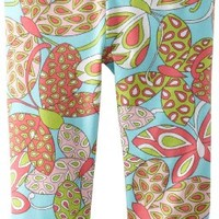 Hartstrings Little Girls' Toddler Printed Cotton Spandex Capri Legging