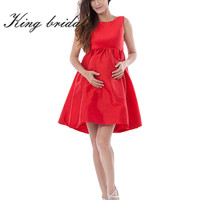 2016 Sexy Red Boat Neck Prom Dresses Short Bowknot Maternity Party Gowns Cheap Handmade Simple Homecoming Sleeveless New Arrival