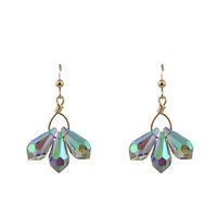 Swarovski Crystal Fan Earrings