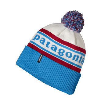 PATAGONIA POWDER TOWN BEANIE IN PARK STRIPE: CLASSIC RED