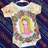 Our Lady of Guadalupe Onesuit for Baby - Yellow