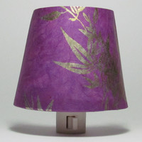 Purple Bamboo Night Light