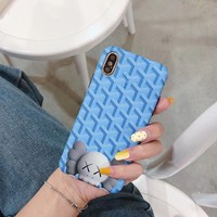 Goyard x Kaws Protective IPhone Case - Sky Blue