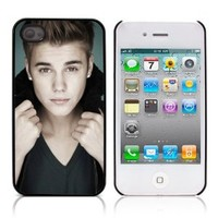 GadgetTown Celebrity Series JUSTIN BIEBER Hard Plastic and Aluminum Back Case for APPLE iPHONE 4 / 4S