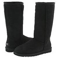 Bunchsun UGG Autumn And Winter Women Men Fashion Wool Snow Boots Shoes Black