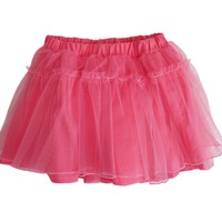 coral pink tutu with cotton shorts lining