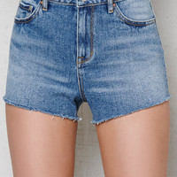 PacSun Tommy Blue High Rise Cutoff Denim Shorts at PacSun.com