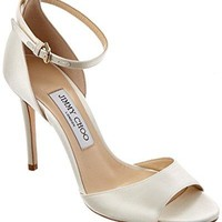 Jimmy Choo Tori 100 Satin Sandal, 39.5, White