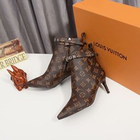 LV  Fashion Women Slipper Boots Sandals High Heels Shoes