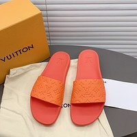LV Louis Vuitton Women's Popular Summer Flats Slipper Sandals Shoes 0412