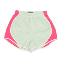 Lauren James Seersucker Striped Shorties- Lime/Coral- FINAL SALE