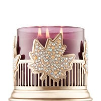 PINSTRIPES & LEAVES3-Wick Candle Sleeve
