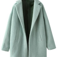 Mint Green Slouchy Wool Coat - OASAP.com