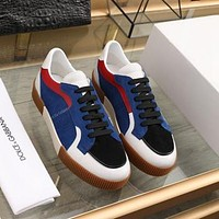 DG  Men Fashion Boots fashionable Casual leather Breathable Sneakers Running Shoes0406GH