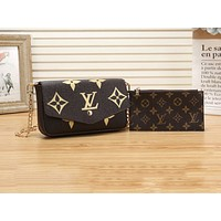 LV Fashion Hot Selling Ladies'Printed Two-piece Shopping Bag