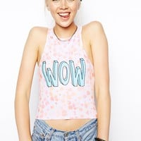 ASOS High Neck Crop with Floral Print & WOW