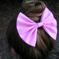 Big Light Pink hair bow for teens and women, Hair Clip, Accessory