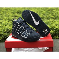 Nike Air more uptempo blue Basketball Shoes 40-45