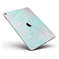 """Teal Slate Marble Surface V23 Full Body Skin for the iPad Pro (12.9"""" or 9.7"""" available)"""
