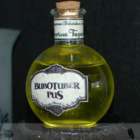 Snape's Potion Cabinet Bottle of Bubotuber Pus by DiagonAlley