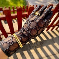 GUCCI GG Tulle gloves