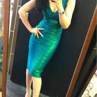 Green Bandages Dress Prom Dress [4919740100]