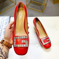 GUCCI Fashion Women Crystal Single Shoes High Heels Shoes