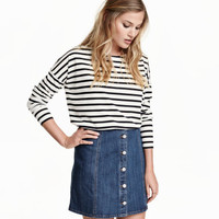 H&M Striped Jersey Top $17.99