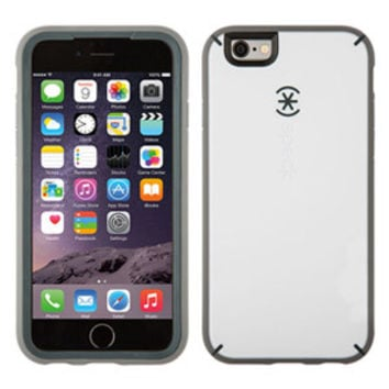 Speck MightyShell iPhone 6 Plus/6s Plus Case, White/Charcoal Grey/Slate Grey