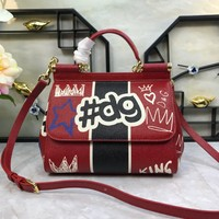 Beauty Ticks D & G Dolce & Gabbana Women's Leather Miss Sicily Handbag Shoulder Bag #2504