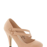 ModCloth Pastel A New Spin Heel in Blush