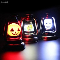 ZMHEGW 27.5cm Halloween Fun Halloween Pumpkin Light Portable Music Night Light DIY Christmas Halloween Lighting Decor
