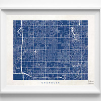 Chandler Map, Arizona Print, Chandler Poster, Arizona Poster, Decor Idea, Home Town, Giclee Print, Dorm Decor, Room Decor, Halloween Decor
