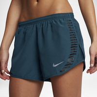 "The Nike Modern Tempo Women's 3"" Graphic Running Shorts."