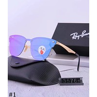 Ray-Ban 2018 new men and women polarized color film frameless sunglasses F-XBC #1