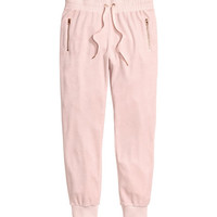 Velour Joggers - from H&M