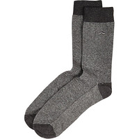 River Island MensGrey moustache icon socks