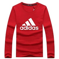 ADIDAS 2018 tide brand chest classic big LOGO loose sports pullover sweater F-A000-PPNZ red