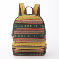 Everyday Backpack, Ethnic Tribes Hand Woven Cotton Textiles Diaper Bag, Overnight Backpack, Cloth Bag, Backpack Purse