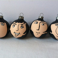 Solo ornament The Beatles hand painted ornaments of Fab four