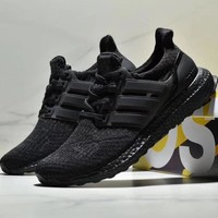 ADIDAS ULTRABOOST Popcorn knitted running shoes-1
