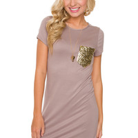 Pocket Size Dreams Dress - Taupe