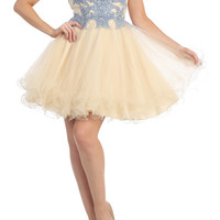 PRIMA C1515 Homecoming Tulle Cocktail Dress
