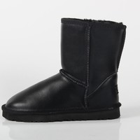 UGG 2018 autumn and winter new non-slip padded cotton shoes women's comfortable in the snow boots black